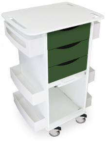 Core DX Locking White Polyethylene Lab Cart, TrippNT