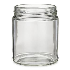 Straight Sided Jars, Clear