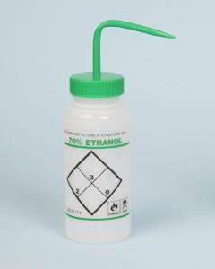 SCIENCEWARE® 2-Color Wash Bottle, Safety-Labeled, Wide-Mouth, LDPE, Bel-Art