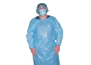 Impervious Isolation Gown, Blue