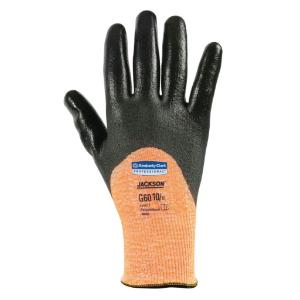 Jackson Safety G60 Level 3 Knuckle Coated High-Visibility Cut Resistant Gloves with Dyneema Fiber Kimberly-Clark