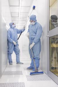 Roll-O-Matic® Self-Wringing Cleanroom Sponge Mops, Vileda Professional-FHP