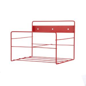 Rack wall red powder coat 10.25×8.06×8""