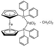 [1,1'-Bis(diphenylphosphino)ferrocene]palladium (II) chloride dichloromethane complex ≥98.0% (by titrimetric analysis)