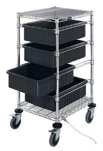 Conductive Bin Cart with Dividable Grids, Quantum Storage Systems
