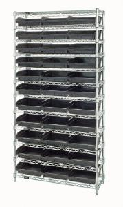 Conduct Shelf Bin Wire Shelving Systems, Quantum Storage Systems