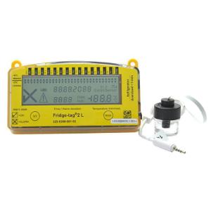 Vaccine data logger with probe and vial