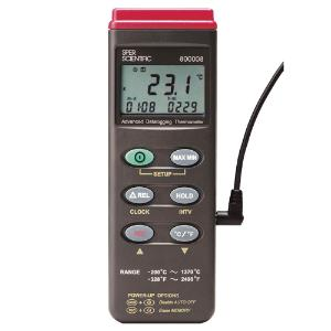 Advanced Thermocouple Thermometer with RS232 Output Datalogger, Certified, Sper Scientific