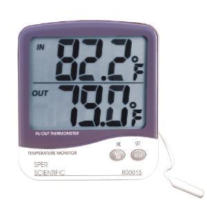 Indoor/Outdoor Thermometers, Large Display, Sper Scientific