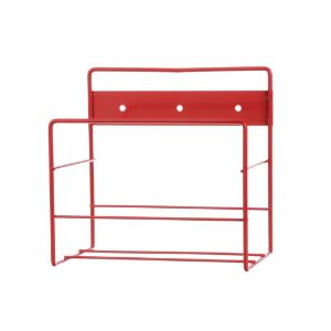 Rack wall red powder coat 8.125×5.5×8""