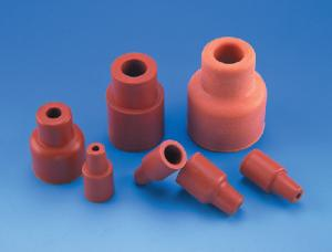 Case of 1000 Natural Red Rubber Wheaton 224100-060 Rubber 13mm Sleeve Style Stopper