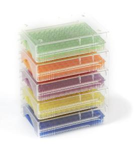 Heathrow Scientific HS120541 Low Temp PCR Rack Pack of 5 96 Well Purple