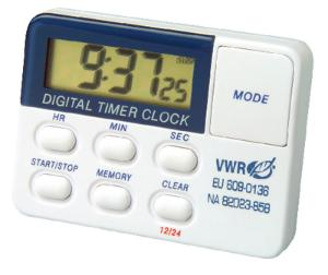 VWR® Single Channel Electronic Timer with Memory and Clock and Certificate of Calibration