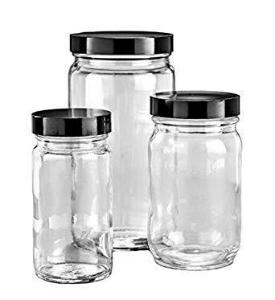 Clear, Wide Mouth AC Round Bottles
