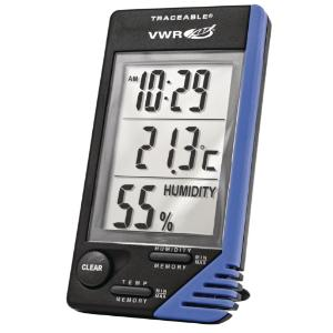 VWR® Traceable® Thermometer/Clock/Humidity Monitor