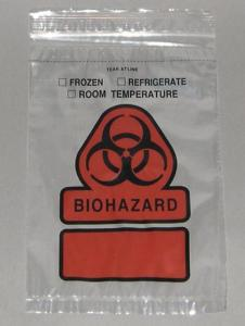 Zip Style Reclosable Transport Bags, Two-Pouch with BioHazard Symbol, Therapak®