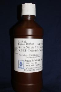 Silver nitrate 0.01 N in aqueous solution