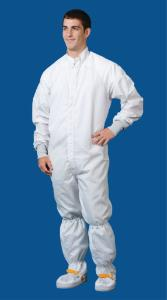 Cleanroom Coverall, ESD Grid, White Knight
