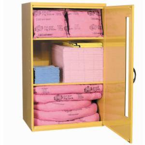 PIG® HazMat Spill Kit in Large Wall-Mount Cabinet, New Pig
