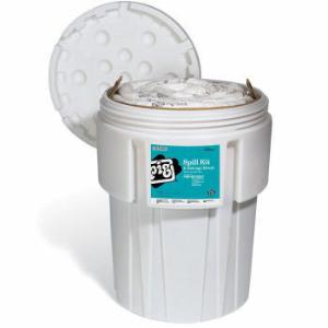 PIG® Oil-Only Spill Kit in 95-Gallon Overpack Salvage Drum, New Pig