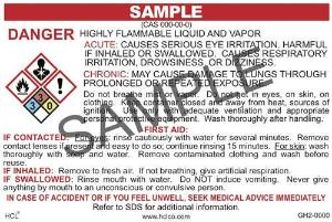 GH2 OSHA/GHS Chemical Label