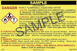 GH3 OSHA/GHS Chemical Label