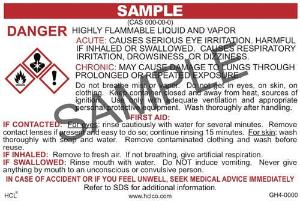 GH4 OSHA/GHS Chemical Label