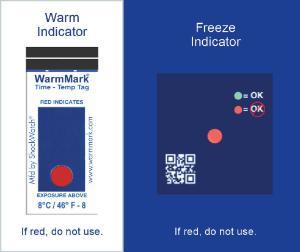 ShockWatch Temperature Indicators