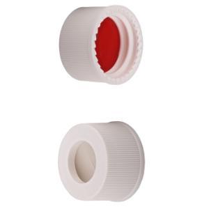 Caps 13 mm screw wht sil/PTFE septa 100