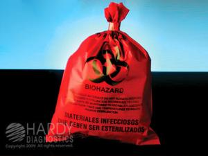 Autoclave Bag Red with Heat Indicator 250°F, Hardy Diagnostics