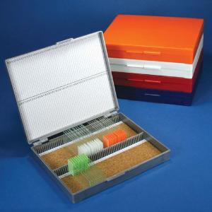 Microscope Slide Storage Boxes For 100 Slides, Globe Scientific