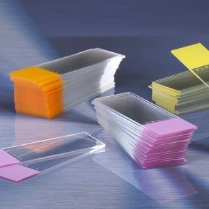 Diamond™ White Glass Microscope Slides, Color Frosted, Globe Scientific