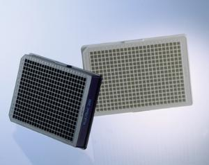 384 Well Polystyrene Microplates, black / white