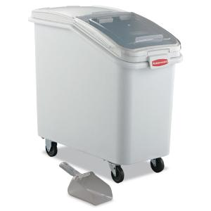 Ingredient Bin with Silidng Lid and Scoop, White