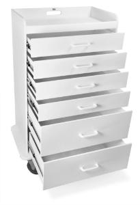 Procedure or Anesthesia Carts, Nonmetal Locking 6-Drawer, Polyethylene, TrippNT