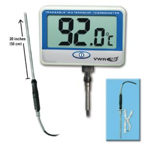 VWR® Traceable® Extra-Extra Long-Probe Waterproof Thermometer