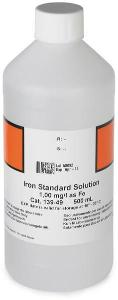 Iron Standard Solution, 1 mg/L as Fe (NIST), 500 mL, Hach