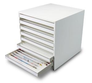 Mega 108-Column HPLC Storage Cabinet with Clear Lids, PVC , TrippNT