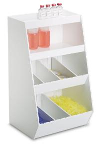 Storage Bin with Eight Adjustable Compartments and Two Shelves, PVC, TrippNT