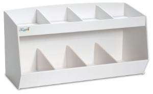 Storage Bins with Eight Fixed Compartments, PVC, TrippNT