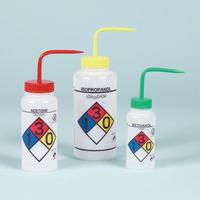 SCIENCEWARE® 4-Color Wash Bottles, Right-to-Know, Safety-Vented™ and Safety-Labeled, Wide Mouth, Bel-Art