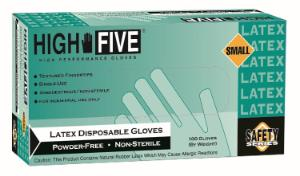 High Five General Purpose Latex Gloves Powder-Free Microflex