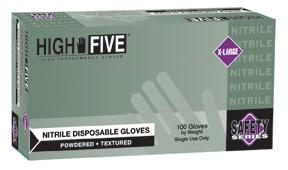High Five General Purpose Nitrile Gloves Lightly Powdered Microflex