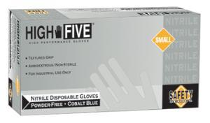 High Five General Purpose Nitrile Gloves Powder-Free Cobalt Microflex