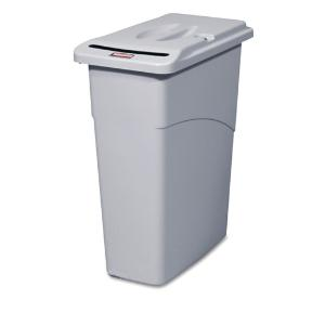 Rubbermaid® Commercial Slim Jim® Confidential Document Waste Receptacle with Lid