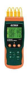 Four-Channel Datalogging Thermometer, Extech