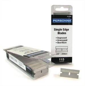 "Personna® 0.009"" Single Edge Razor Blades, Accutec Blades"