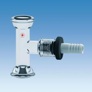 """Vacuum #15 O-Ring Joint Tee Adapter with #15 Ace-Safe Connector Side Port and ½"""" Hose Barb, Ace Glass Incorporated"""