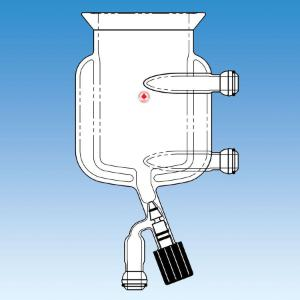Two-Piece Jacketed Pressure Reactor with Drain Valve, Ace Glass Incorporated