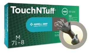 TouchNTuff® 93-250 Nitrile Gloves, Powder-Free, Ansell